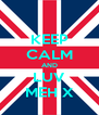 KEEP CALM AND LUV MEH X - Personalised Poster A4 size