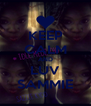 KEEP CALM AND LUV SAMMIE - Personalised Poster A4 size