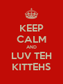 KEEP CALM AND LUV TEH KITTEHS - Personalised Poster A4 size
