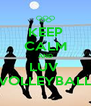 KEEP CALM AND LUV  VOLLEYBALL - Personalised Poster A4 size