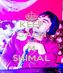 KEEP CALM AND M SHIMAL - Personalised Poster A4 size