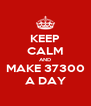 KEEP CALM AND MAKE 37300 A DAY - Personalised Poster A4 size
