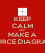 KEEP CALM AND MAKE A FORCE DIAGRAM - Personalised Poster A4 size