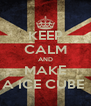 KEEP CALM AND MAKE A ICE CUBE  - Personalised Poster A4 size