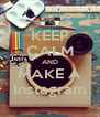 KEEP CALM AND MAKE A Instagram - Personalised Poster A4 size