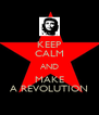 KEEP CALM AND MAKE A REVOLUTION - Personalised Poster A4 size