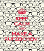 KEEP CALM AND MAKE A RUFZEICHEN ! - Personalised Poster A4 size