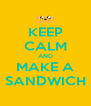 KEEP CALM AND MAKE A SANDWICH - Personalised Poster A4 size