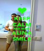 KEEP CALM AND MAKE ALINA SMILE - Personalised Poster A4 size