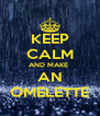 KEEP CALM AND MAKE  AN OMELETTE - Personalised Poster A4 size