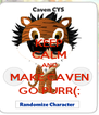 KEEP CALM AND MAKE CAVEN GO PURR(; - Personalised Poster A4 size