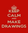 KEEP CALM AND MAKE DRAWINGS - Personalised Poster A4 size
