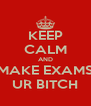 KEEP CALM AND MAKE EXAMS UR BITCH - Personalised Poster A4 size
