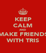 KEEP CALM AND MAKE FRIENDS WITH TRIS - Personalised Poster A4 size