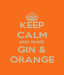 KEEP CALM AND MAKE GIN & ORANGE - Personalised Poster A4 size