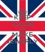 KEEP CALM AND MAKE JEWERLY - Personalised Poster A4 size