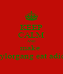 KEEP CALM AND make  taylorgang eat adick - Personalised Poster A4 size