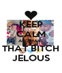 KEEP CALM AND MAKE THAT BITCH JELOUS - Personalised Poster A4 size