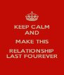 KEEP CALM AND MAKE THIS RELATIONSHIP LAST FOUREVER - Personalised Poster A4 size