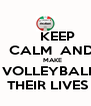 KEEP     CALM  AND        MAKE   VOLLEYBALL  THEIR LIVES - Personalised Poster A4 size