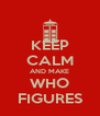 KEEP CALM AND MAKE WHO FIGURES - Personalised Poster A4 size