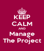 KEEP CALM AND Manage The Project - Personalised Poster A4 size