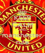 KEEP CALM AND manchester rule - Personalised Poster A4 size