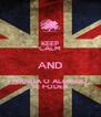 KEEP CALM AND MANDA O ALFREDO SE FODER - Personalised Poster A4 size