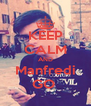 KEEP CALM AND Manfredi GO  - Personalised Poster A4 size