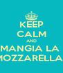 KEEP CALM AND MANGIA LA  MOZZARELLA!! - Personalised Poster A4 size