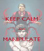 KEEP CALM  AND  MANIPULATE - Personalised Poster A4 size