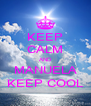 KEEP CALM AND MANUELA KEEP COOL - Personalised Poster A4 size