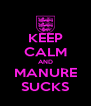 KEEP CALM AND MANURE SUCKS - Personalised Poster A4 size