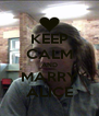 KEEP CALM AND MARRY ALICE - Personalised Poster A4 size