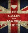 KEEP CALM AND MARRY ED SHEERAN - Personalised Poster A4 size