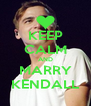 KEEP CALM AND MARRY KENDALL - Personalised Poster A4 size