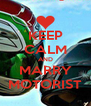 KEEP CALM AND MARRY MOTORIST - Personalised Poster A4 size