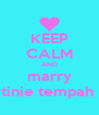 KEEP CALM AND marry tinie tempah  - Personalised Poster A4 size