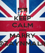 KEEP CALM AND MARRY @ZAYNMALIK - Personalised Poster A4 size