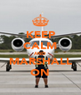 KEEP CALM AND MARSHALL ON - Personalised Poster A4 size