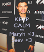 KEEP CALM and Maryh <3 Seev <3 - Personalised Poster A4 size