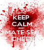 KEEP  CALM AND  MATE SEU CHEFE - Personalised Poster A4 size