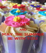 KEEP CALM AND MAY THE SUMMER BE WITH YOU - Personalised Poster A4 size