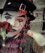 """KEEP CALM AND """"Me faça feliz"""" - Personalised Poster A4 size"""