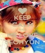 KEEP CALM AND ME LOVE SEOHYUN - Personalised Poster A4 size