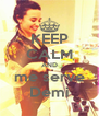 KEEP CALM AND me serve Demi - Personalised Poster A4 size