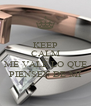KEEP CALM AND ME VALE LO QUE PIENSEN DE MI - Personalised Poster A4 size
