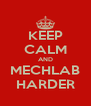 KEEP CALM AND MECHLAB HARDER - Personalised Poster A4 size