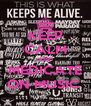 KEEP CALM AND MEDICATE ON MUSIC  - Personalised Poster A4 size