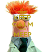 KEEP CALM AND MEEP     - Personalised Poster A4 size